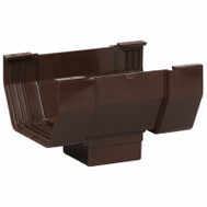 Amerimax T1506 Contemporary Center Drop Outlet 5 Inch Brown