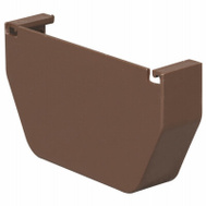 Amerimax T1511 Contemporary End Cap 5 Inch Brown