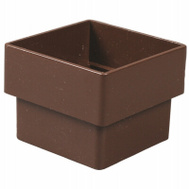 Amerimax T1523 Downspout Connector 2 Inch Square Brown
