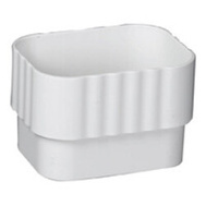 Amerimax M0723 Connector Downspout Wht 3X4in