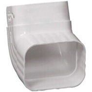 Amerimax M0727 Traditional Front Elbow A Vinyl 3 By 4 Inch White