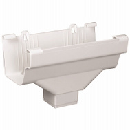 Amerimax M0506-6 Traditional End Outlet 2 By 3 Inch White