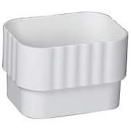 Amerimax M0623 Vinyl Connector 2 By 3 Inch White