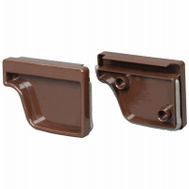 Amerimax M1611 End Cap Traditional Vinyl 5 Inch Brown