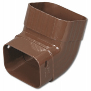 Amerimax M1627 Front A Elbow 2 By 3 Inch Brown