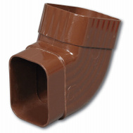 Amerimax M1628 Side B Elbow 2 By 3 Inch Brown