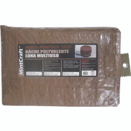 ProSource T0810BB90 Mintcraft Brown Medium Duty Tarpaulin 8 By 10 Foot