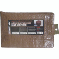 ProSource T1012BR90 Mintcraft Brown Medium Duty Tarpaulin 10 By 12 Foot
