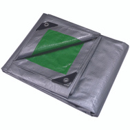 ProSource T3040GS140 Mintcraft Heavy Duty Green And Silver Poly Tarpaulin 30 By 40 Foot