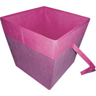 HomeBasix 05000953P Non-Woven Folding Storage Bin 15 By 15 By 15 Inches Purple And Fuchsia