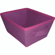 HomeBasix 05000951P Non-Woven Folding Storage Bin 10-1/2 By 8-1/4 By 5-1/4 Inches Purple And Fuchsia