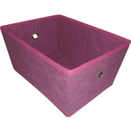 HomeBasix M167CNW-3L Non-Woven Folding Storage Bin 16 By 12 By 8 Inch Purple And Fuchsia