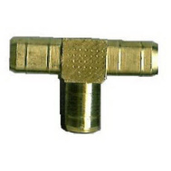 Anderson Metal 57064-04 1/4 Inch Brass Hose Barb Tee
