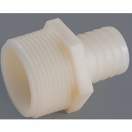 Anderson Metal 53701-0408 1/2 By 1/4 Inch Plastic Tubing Male Adapter