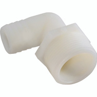 Anderson Metal 53720-0608 3/8 By 1/2 Inch Male Pipe Thread Barb Elbow