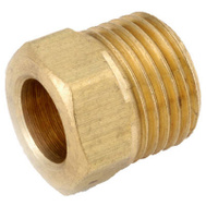 Anderson Metal 54341-04 1/4 Inch Brass Inverted Flare Nut