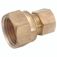 Anderson Metal 50066-1408 Brass Compression Female Connector 7/8 By 1/2 Inch