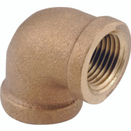 Anderson Metal 738100-06 Elbow Brass 90deg Ipt 3/8