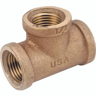Anderson Metal 738101-04 Tee Brass 1/4Fpt