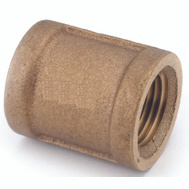 Anderson Metal 738103-04 Coupling Brass 1/4fpt