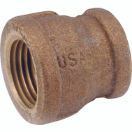 Anderson Metal 738119-0806 Coupling Brass Ipt 1/2 X 3/8