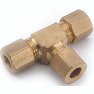 Anderson Metal 750064-05 Compression Tee Brass 5/16