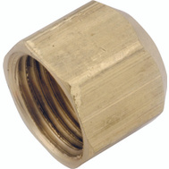 Anderson Metal 754040-06 Cap Flare Brass 3/8 In