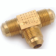 Anderson Metal 754044-05 Tee Flare Brass 5/16 In