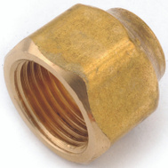 Anderson Metal 754020-0806 Nut Flare Brass 1/2X3/8