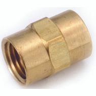 Anderson Metal 756103-04 Coupling Brass Barstock 1/4