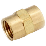 Anderson Metal 756103-08 1/2 Inch BRS Coupling