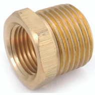 Anderson Metal 756110-0402 Bushing Hex Brass 1/4Mx1/8F