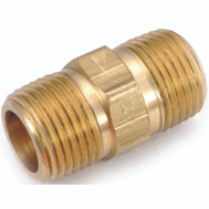 Anderson Metal 756122-06 Nipple Hex Brass Mpt 3/8