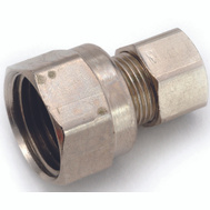 Anderson Metal 754822-0606 3/8 Inch Brass Flare Fittings Adapter