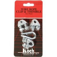Koch Industries 143121 Rope Clip & Thimble 1/8 Inch
