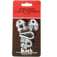 Koch Industries 143161 Rope Clip & Thimble 3/16 Inch