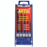 Artu 01505 Multi Purpose 5 Piece 1/8 To 3/8 Inch Cobalt And Tungsten Carbide Quick Connect Drill Bit Set