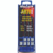 Artu 01510 Multi Purpose 7 Piece 1/8 To 1/2 Inch Cobalt And Tungsten Carbide Quick Connect Drill Bit Set