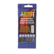 Artu 01540 Multi Purpose 6 Piece 1/8 To 3/8 Inch Cobalt And Tungsten Carbide Tip Quick Connect Drill Bit Set