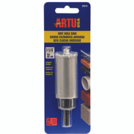 Artu 02810 1-1/4 Inch Tungsten Carbide Grit Hole Saw With Arbor & Pilot Bit