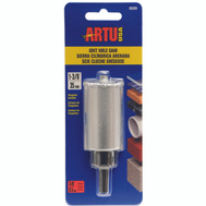 Artu 02820 1-3/8 Inch Tungsten Carbide Grit Hole Saw With Arbor & Pilot Bit