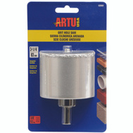 Artu 02860 3-1/4 Inch Tungsten Carbide Grit Hole Saw With Arbor & Pilot Bit