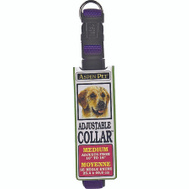 Petmate 15708 Collar Nylon Blue Adjustable 10 To 14 Inch