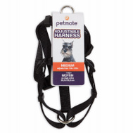 Petmate 17210 5/8 By 12 To 20 Inch Adjustable Black Harness