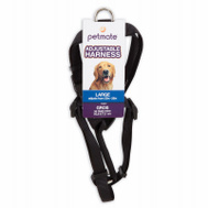Petmate 19314 3/4 By 20 To 30 Inch Adjustable Black Harness