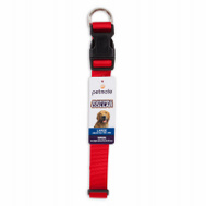 Petmate 20806 Collar Nylon Red Adjustable 18 To 26 Inch