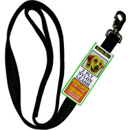 Petmate 21090 Lead Nylon Double 1 Inch By 6 Foot Black