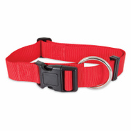 Petmate 21366 Collar Nylon Double 1 By 24 Inch Red