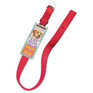 Petmate 21406 Collar Nylon Double 1 By 26 Inch Red