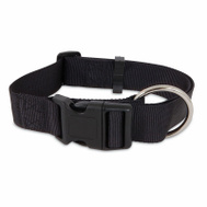 Petmate 21410 Collar Nylon Double 1 By 26 Inch Black